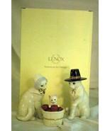 Lenox 2019 Feline Pilgrim Family 3 Piece Figurine Set NIB Thanksgiving - $37.79