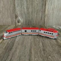 Vintage Train Christmas Ornament Silver Star Die Cast Hallmark 1992 Red - $41.99