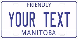 Manitoba 1986 Canada Tag License Plate Personalized Auto Bike Motorcycle... - $10.99+