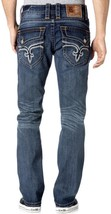 NEW ROCK REVIVAL MEN'S PREMIUM STRAIGHT LEG DENIM JEANS KAELEN A400 PR1534A400
