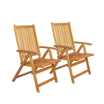 Northlight 2 Acacia Wood Folding Outdoor Patio Chairs - $176.95
