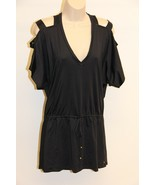 NWT PILYQ Barcelona Swimsuit Bikini Cover Up Dress Sz L Black - $40.52