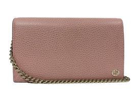 GUCCI 466506 Interlocking G Leather Crossbody Bag Wallet, Pink - $731.42