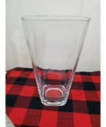 Large Tapered Up Rectangular Vase Thick Glass Heavy Base - $24.75