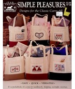 Simple Pleasures Totes Jean Farish Cross Stitch Pattern Leaflet 6 Designs - $4.47