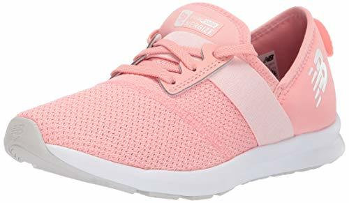 Balance Girls' Nergize V1 FuelCore Sneaker, white peach/Munsell white, 3.5 W US