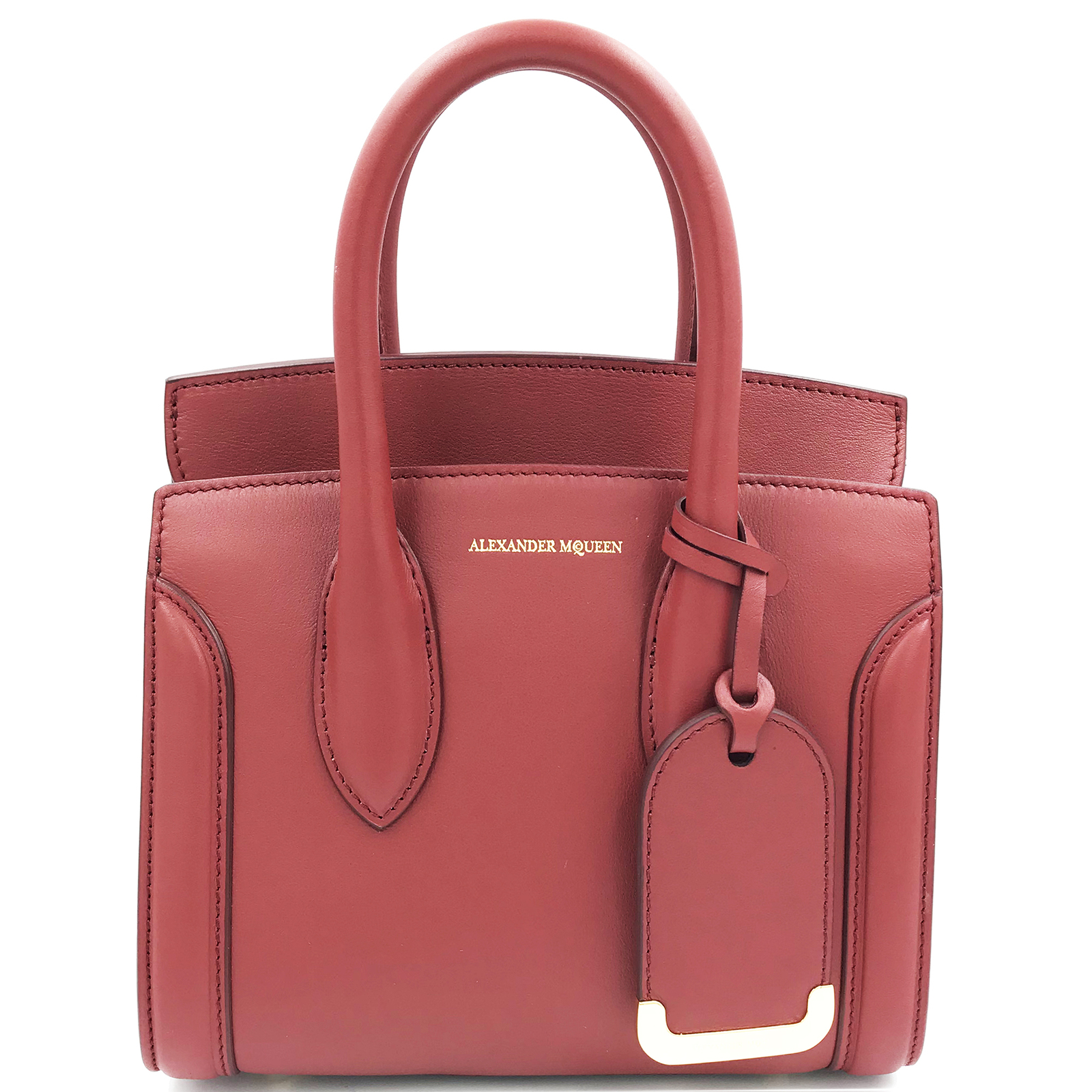 Primary image for Alexander McQueen Heroine 21 Dark Red  Italian Satchel Ladies Bag 47987DX50M