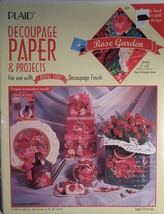 ROSE GARDEN DECOUPAGE PAPER & PROJECTS SHEETS - $7.91