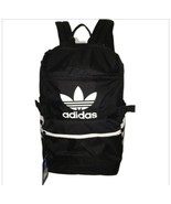ADIDAS Original Classic Backpack Zip Top Trefoil Black Stripes Black Whi... - $45.00