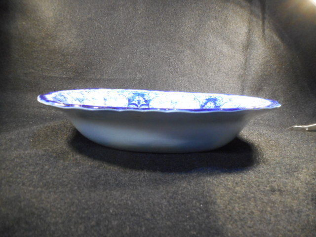 Vintage John Maddock & Sons Royal Vitreous English Flow Blue Vegetable Dish