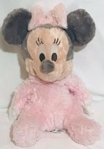 DISNEY PARKS Plush BABY MINNIE MOUSE Pink Soft Chime Rattle Stuffed Anim... - $29.18
