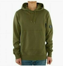 C.P.Company Men's Diagonal Fleece Goggle Pullover NEW AUTHENTIC Olive 08... - $149.99