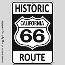 Historic California U.S. Route 66 MAN CAVE Bar Garage 100% Aluminum Sign... - $15.83