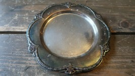 "Antique 1910 Silverplate Rogers Orange Blossom Wine Bottle Coaster 6.25"" - $39.59"