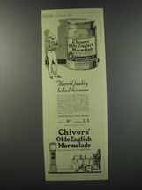 1930 Chivers Olde English Marmalade Ad - There's quality behind this name - $14.99