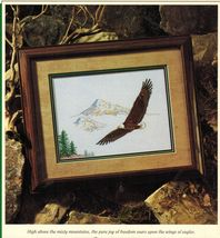 Cross Stitch Color Charts Majestic Flight Wings of Bald Eagles Pattern - $11.99