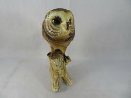 """Vintage BARN OWL Figurine Bird Ceramic Model Hand Painted JAPAN 6""""1/2 Tall image 2"""