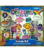 CraZArt 3D CraZGels Sticker Art Set - Includes Paint Tubes  - FREE SHIPP... - $16.99