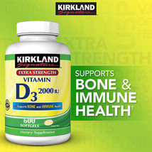 Kirkland Signature Vitamin D3 2,000 I.U. 600 softgels. - $21.40
