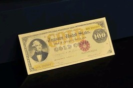 "<GEM>1882 GOLD $100 DOLLARS Rep* ""GOLD Coin""Treasury Banknote W/COA~US SEL - $10.63"