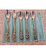 "Vintage Silver Cocktail Spoons ""Imported By The Bucklers"" Fifth Avenue (5) - $116.88"