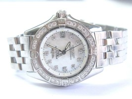 BREITLING CALLISTO A72345 WATCH WOMAN WRISTWATCH W/MOP Diamond Dial - $3,465.00