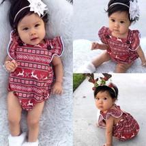 Newborn Infant Kids Baby Girl Christmas Romper Jumpsuit Bodysuit Outfit ... - $18.90