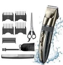 Mens Electirc Waterproof Hair / Beard Trimmer Clippers RechargeableProf... - $23.36