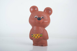 Olympic bear toy. Vintage 1980 Moscow Olympic Bear Misha. Soft Rubber Toy. - $23.03