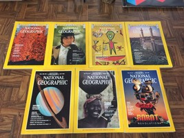 Vintage Mixed Lot x7 NATIONAL GEOGRAPHIC Magazines March 1975 - July 199... - $14.84