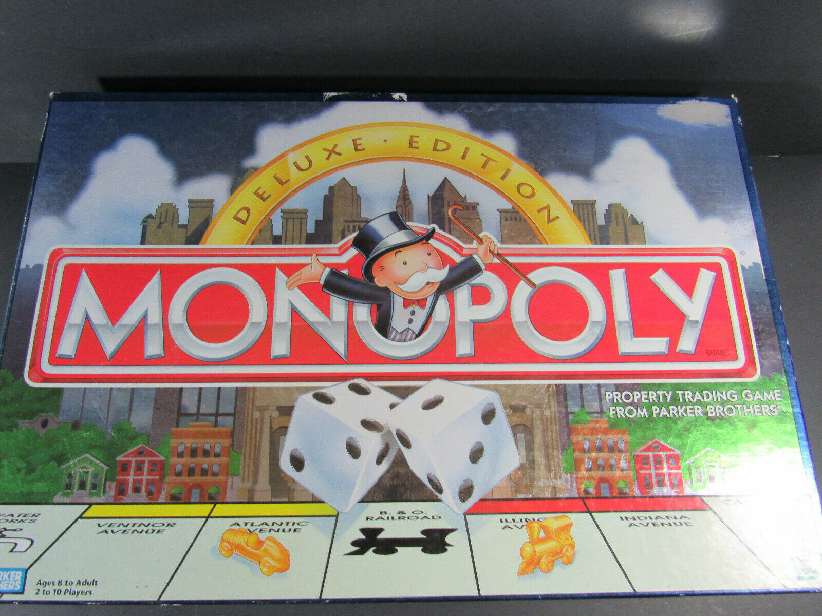 Primary image for 1995 MONOPOLY DELUXE EDITION Parker Brothers Board Game only 7 tokens