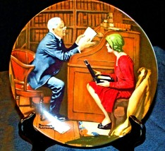 "1985 ""The Professor"" by Norman Rockwell Plate with Box ( Knowles ) AA20-CP2195 V"