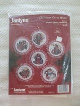 Janlynn HOLIDAY ANGELS ORNAMENTS Counted Cross Stitch SEALED Kit--6--3.5... - $9.90
