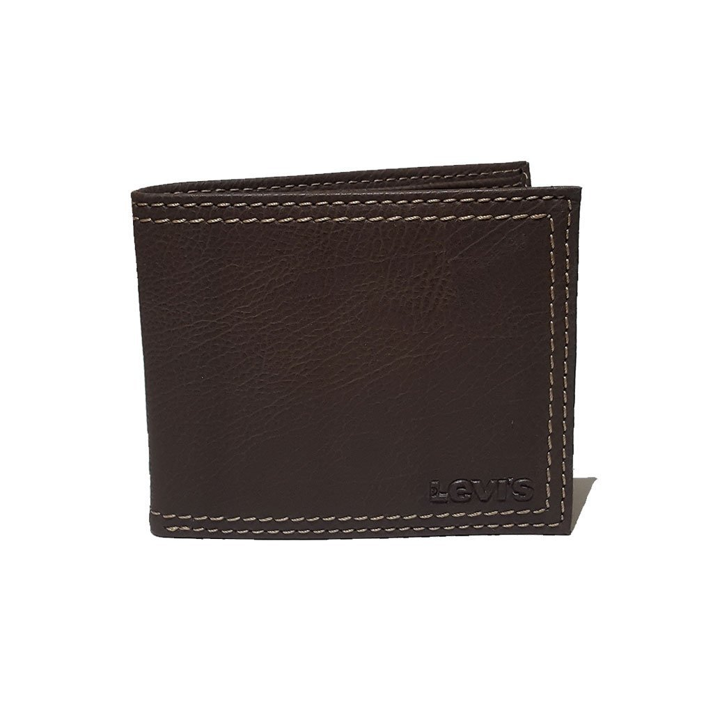 Levi's® 31LV1344 men's extra capacity slimfold wallet brown one size