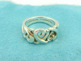 TIFFANY & CO Sterling Silver Triple Loving Heart Ring Size 5.5 - $102.24