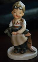 Napco Porcelain Boy Cobbler Figurine Vintage Boots SH1B - $12.99
