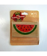 Rubber Stampede Watermelon Slice Wood Mounted Rubber Stamp - MIP - No. Z... - $8.75
