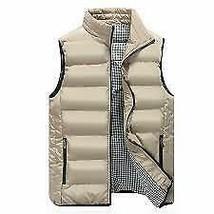 Men's Full Zip Water Resistant Outdoor Padded Packable Puffer Vest Tan 2XL image 1