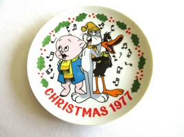 Dave Grossman Warner Bros Looney Tunes 1977 Christmas Plate Porky Daffy ... - $14.99