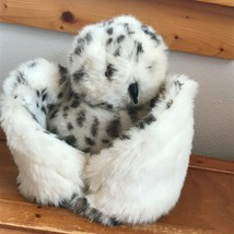 Gently Used Folkmanis Plush Large Snowy Owl w Turning Head & Wings that Close - $13.99