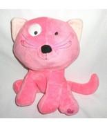 Dan Dee Pink Kitty Cat Plush Stuffed Animal Heart Foot White Spot Curly ... - $27.23