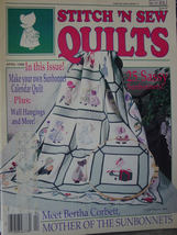 Stitch & Sew Quilts Sun Bonnet Sue Special Issue 1988 magazine  - $9.99