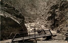 1914 Postcard Crossing on Big Thompson to Estes Park Colorado Cars Wood ... - $19.95