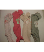 Lot of 4 Girls Rompers 6 Months Cotton Blend - $9.89