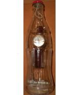 Mens Round Gold Classic Coca~Cola Logo Wristwatch NOS - £7.95 GBP