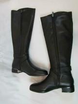 NIB Kenneth Cole Knee Low Heel Black Knee High Boot 8 M Leather Upper Side Zip - $237.49