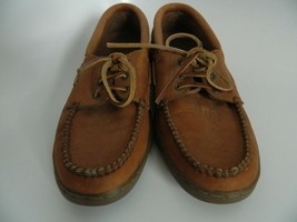 Bass Mens Brown Boat Shoes Size 8.5M R710 - $31.99
