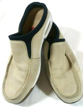 Cole Haan Country Mens  10.5 M Beige And Blue Leather Slip On Shoes - $32.64