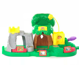 Fisher Price Little People Zoo Lion Elephant Polar Bear Jungle House Play Set - $19.79