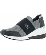 Michael Michael Kors Shoes Felix Trainer Fabric Black/Silver Size 8.5 - $123.75